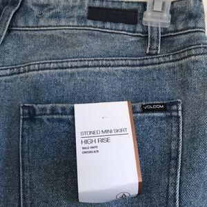 Volcom Skirts - ✨Volcom Jeans Ripped Skirt✨